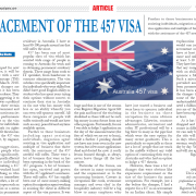 Replacement of the 457 Visa